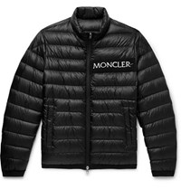 Moncler Neveu Quilted Shell Down Jacket Black