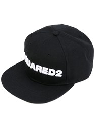 Dsquared2 Embroidered Baseball Cap Men Acrylic One Size Black