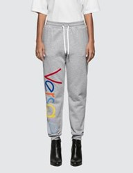 Versace Rainbow Color Logo Sweatpants