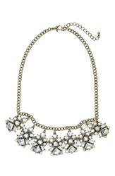 Bp Crystal Statement Necklace Ivory Gold