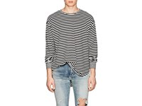 Nsf Andy Striped Cotton T Shirt Black
