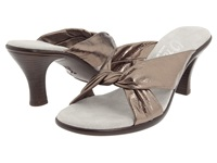 Onex Modest Pewter Leather Women's Dress Sandals