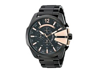 Diesel Mega Chief Dz4309 Black Stainless Stell With Black And Rose Dial Watches