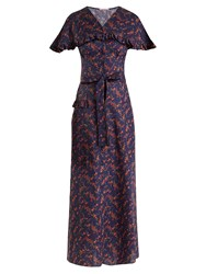 The Vampire's Wife Charlotte Liberty Floral Print Cotton Dress Navy Print