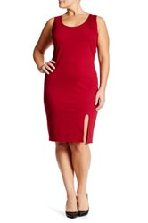 Vanity Room Scoop Neck Slip Dress Plus Size Red