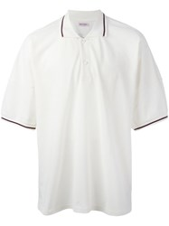 Palm Angels Loose Fit Polo Shirt White
