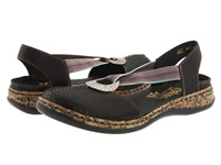 Rieker 46362 Daisy 62 Black Leather Women's Slip On Shoes
