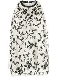 Brunello Cucinelli Floral Embroidered Sleeveless Blouse 60