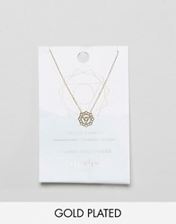 Orelia Gold Plated Throat Chakra Necklace Gold