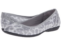 Lifestride Airy Silver Slate Disco Leopard Elf Women's Flat Shoes Gray