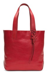 Frye Carson Leather Tote Red