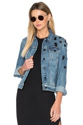 Paige Rowan Denim Jacket Jupiter Embellished