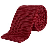 Jaeger Silk Knitted Tie Red