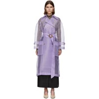 Nanushka Purple Organza Tuscan Trench Coat