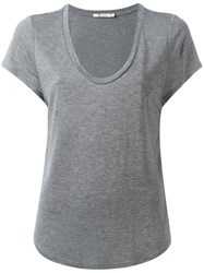 Alexander Wang Scoop Neck T Shirt Grey