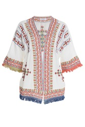 Velvet Embroidered Tunic Multicolor