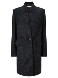 John Lewis Textured Coat Black Green