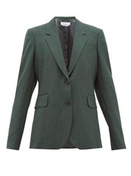 Gabriela Hearst Sophie Single Breasted Wool Jacket Dark Green