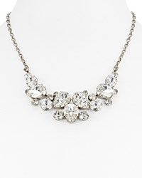Sorrelli Swarovski Crystal Bib Necklace 15 Silver Clear