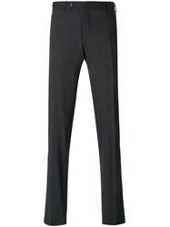 Canali Tailored Trousers Wool Spandex Elastane Grey