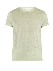 120 Lino Crew Neck Linen T Shirt Green
