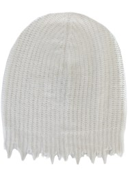 Msgm Distressed Beanie White
