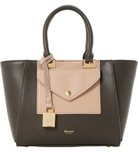 Dune Deanne Faux Leather Winged Tote Grey Plain Synthetic
