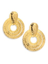 Josie Natori Circular Wire Earrings Gold