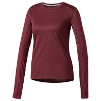 Adidas Supernova Long Sleeve Running T Shirt Maroon