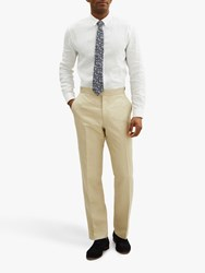 Jaeger Silk Linen Regular Fit Suit Trousers Cream