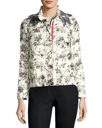 Moncler Floral Toile Silk Jacket White