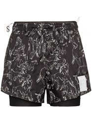 Satisfy 3 Inch Horse Print Shorts Black