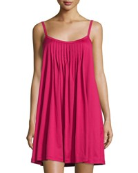 Hanro Juliet Pleated Babydoll Gown Cranberry