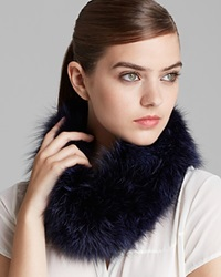 Surell Fox Fur Collar Headband Blackberry