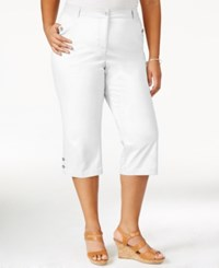 Karen Scott Plus Size Cropped Twill Capri Only At Macy's Bright White