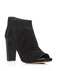 Vince Camuto Cosima Peep Toe High Heel Booties Black