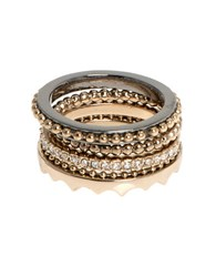 Jenny Packham Stack Rings Set Of 4 Mixed Metal