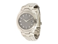 Citizen Bm6010 55A Eco Drive Stainless Steel Watch Silver Band Silver Case Grey Face Watches