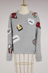 Michaela Buerger Baking Cotton Sweatshirt Grey