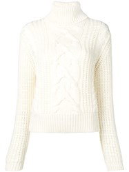 Jacob Cohen Patterned Loose Sweater White