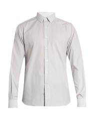 Valentino Buttoned Cuff Striped Cotton Shirt Grey Multi