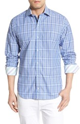 Men's Tailorbyrd 'Olive' Regular Fit Plaid Sport Shirt