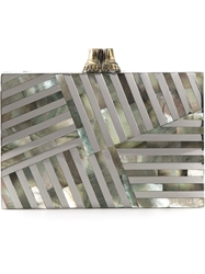 Kelly Wearstler Geometric Motif Clutch Metallic
