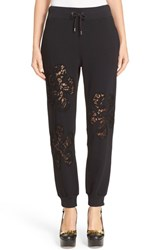 Moschino Women's Lace Inset Fleece Trousers