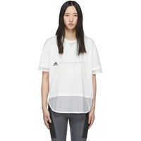 Adidas By Stella Mccartney White Logo T Shirt