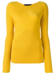 Cedric Charlier Round Neck Jumper Yellow And Orange