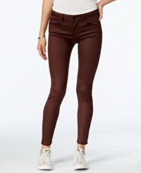 Celebrity Pink Juniors' Infinite Stretch Coated Skinny Jeans Burnt Red