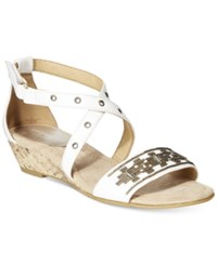 Easy Spirit Malvina Studded Sandals Women's Shoes White