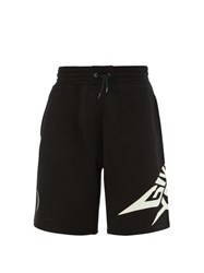 Givenchy Luminous Logo Print Cotton Shorts Black