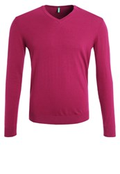 United Colors Of Benetton Jumper Purple Bordeaux